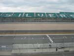 View from the timekeeper's booth across the main straight to the Pits Straights stand.