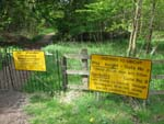 There is a private path from the Whittlebury campgrounds to Becketts or the PIt Straight/Copse tunnel areas