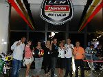 We are guests of LCR Honda Saturday night
