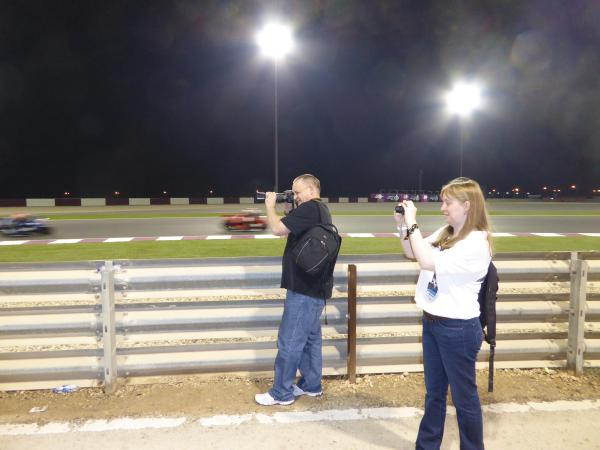 Catching the night time action trackside
