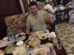 We enjoy an amazing Syrian dinner on our first night