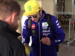 Rossi is at our hotel...
