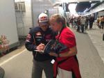 It is easy to meet riders in the paddock