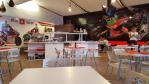 Inside Aprilia Gresini hospitality