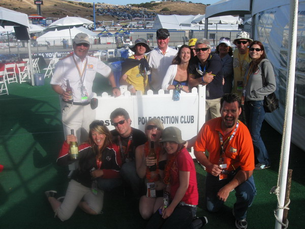 Some customers at our 2009 Pole Position Club in Laguna Seca
