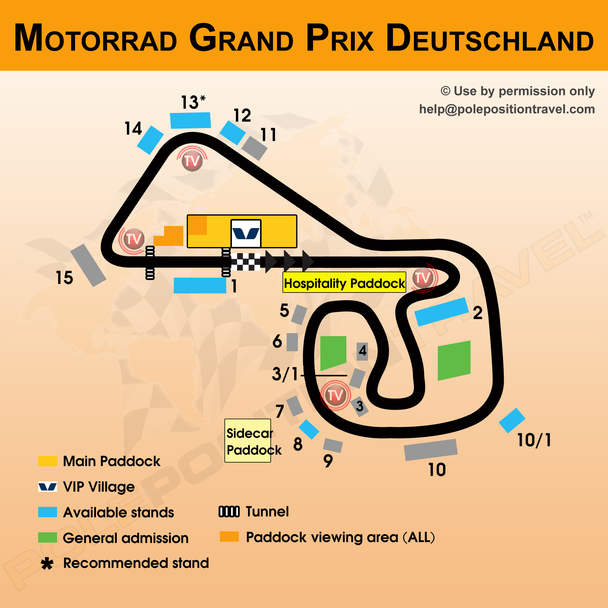 Sachsenring track map